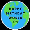 Happy Birthday World 5778